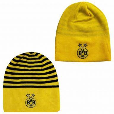 Reversible BVB Borussia Dortmund Crest Beanie Hat by Puma