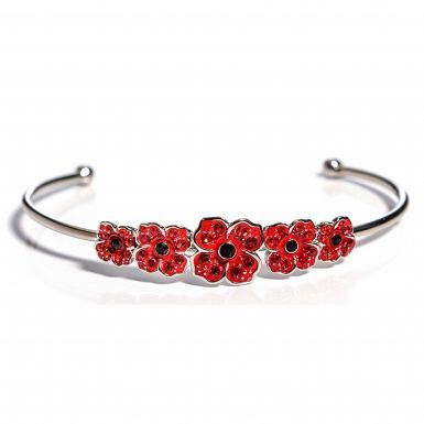 WW1 1918-2018 Centenary Remembrance Poppy Bracelet