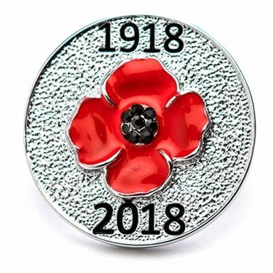 WW1 1918-2018 Centenary Remembrance Poppy Pin Badge