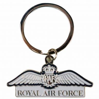 Official Royal Air Force (RAF) Wings Crest Keyring