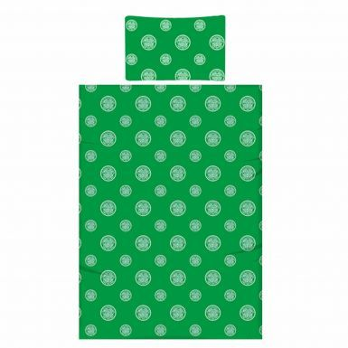 Official Reversible Celtic FC Single Duvet Cover With Pillowcase Bedroom Set