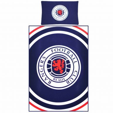 Official Reversible Rangers FC Single Duvet Cover With Pillowcase Bedroom Set (Single Twin Bed)