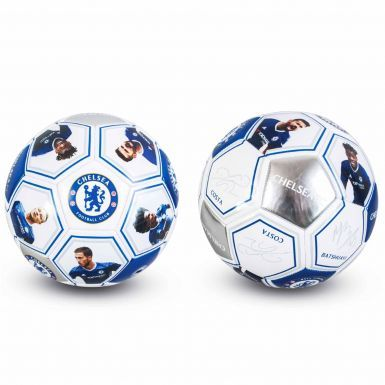 Official Chelsea FC Player Photo & Signature Soccer Ball (Size 5)