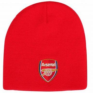 Official Arsenal FC (Premier League) Crest Beanie Hat (Adults)