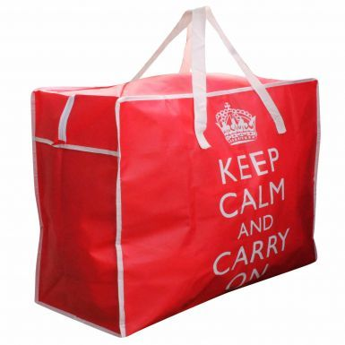 Giant Keep Calm & Carry On Laundry Storage Bag