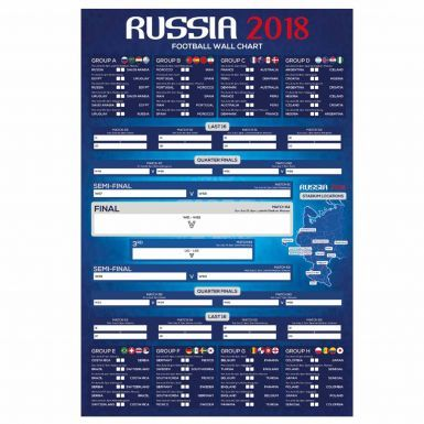 Official 2018 FIFA World Cup Russia Fixture Wall Chart for Sweepstakes
