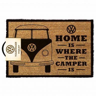 Official VW Campervan Entrance Coir Rubber Backed Door Mat (40cm x 60cm)