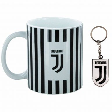 Official FC Juventus 11oz Ceramic Mug & Keyring Gift Set