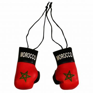 Morocco (Maroc) Mini Boxing Gloves for the Home or Car
