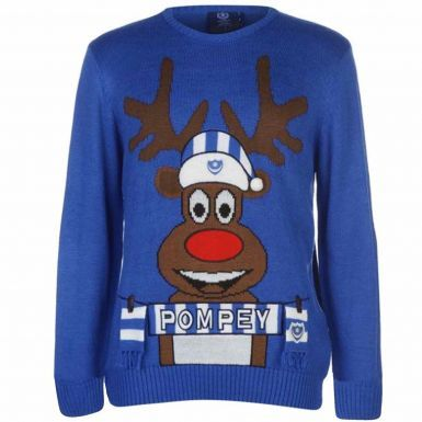 Official Portsmouth FC Rudolph Christmas Jumper