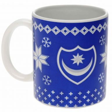 Official Portsmouth FC Christmas 11oz Ceramic Mug