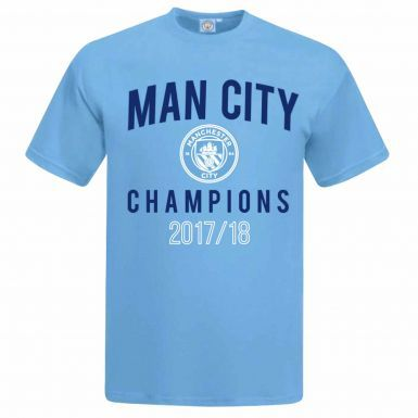 Official Manchester City Premier League 2018 Champions T-Shirt