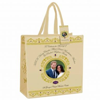 Royal Wedding Prince Harry & Meghan Souvenir Shopping Bag