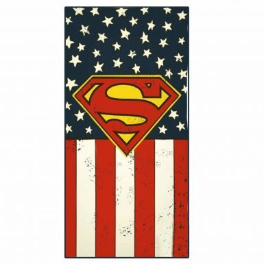 Official Superman Stars & Stripes Super Hero Towel