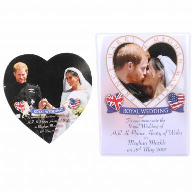 Pair of Prince Harry & Meghan Royal Wedding Fridge Magnets