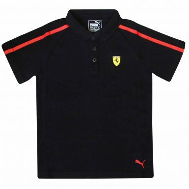 Classic F1 Scuderia Ferrari Kids Polo Shirt by Puma (100% Cotton)