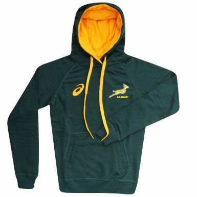 Official Adults South Africa Springboks Rugby Hoodie by ASICS
