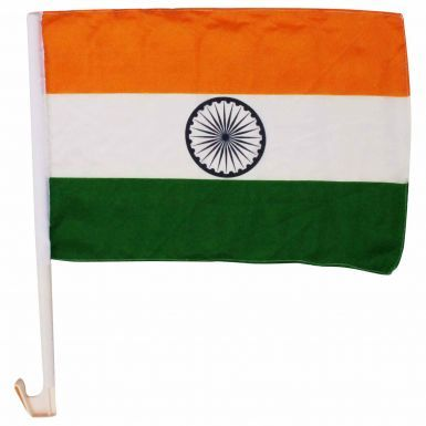 Pair of High Quality India Car Flags (40cm x 30cm) for Cricket Fans