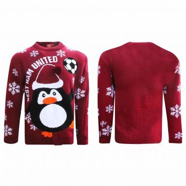 Official West Ham United Christmas Jumper (Sizes S to 3XL)