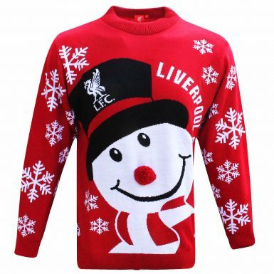 Official Liverpool FC Knitted Christmas Jumper (Adults Sizes S to 3XL)