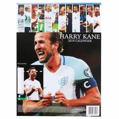 Full Colour Harry Kane England Captain & Goal Machine 2019 Calendar (A3 420mm x 297mm)