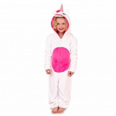 Kids Unicorn Hooded Lounge Fleece Onesie & Nightwear