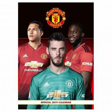 Official Manchester United 2019 Soccer Calendar (A3)