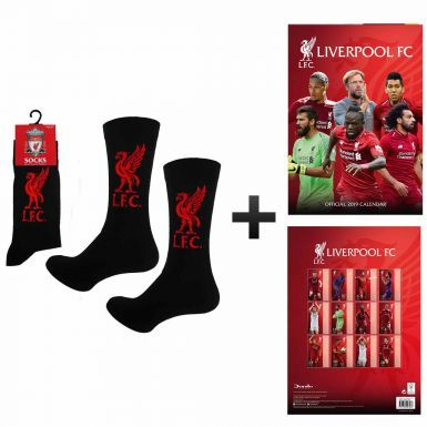 Official Liverpool FC 2019 Calendar & Socks Gift Set