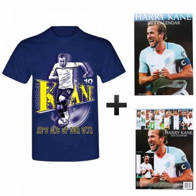 Harry Kane 2019 Calendar (A3) & T-Shirt Gift Set