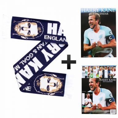 Harry Kane 2019 Calendar (A3) & Scarf Gift Set