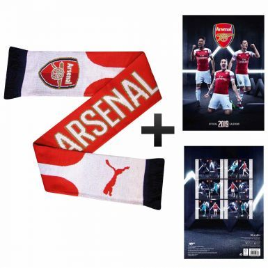 Official Arsenal FC 2019 Calendar & Puma Scarf Gift Set