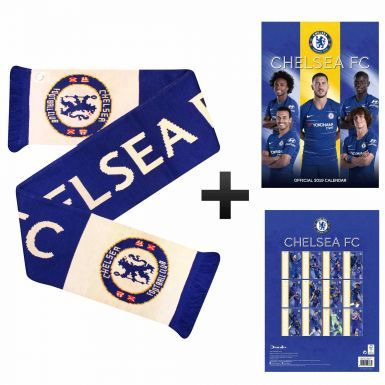 Official Chelsea FC 2019 Calendar & Bar Scarf Gift Set
