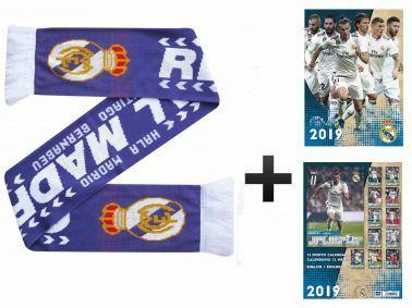 Real Madrid (La Liga) 2019 Soccer Calendar & Scarf Gift Set