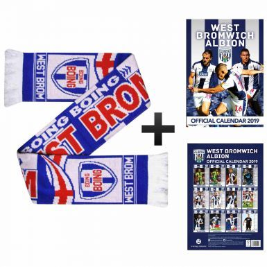 West Bromwich Albion 2019 Calendar & Scarf Gift Set