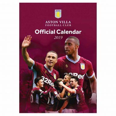 Official Aston Villa 2019 Soccer Calendar (A3 420mm x 297mm)