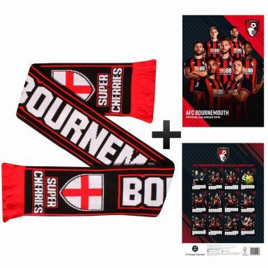 AFC Bournemouth 2019 Football Calendar & Scarf Gift Set
