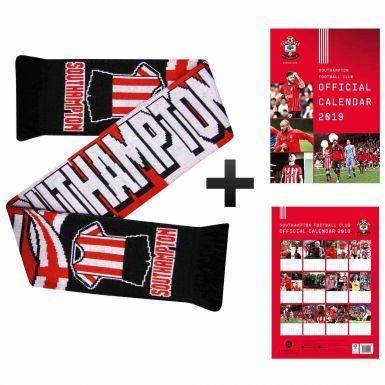 Southampton FC 2019 Calendar & Scarf Gift Set