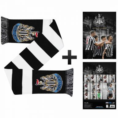 Official Newcastle United 2019 Calendar & Scarf Gift Set
