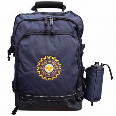 Premium India BCCI Cricket Rucksack With Free Laptop Sleeve & Drinks Bottle