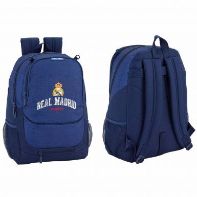 Official Real Madrid Crest Premium Backpack With Ball Mesh