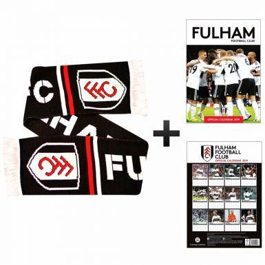 Official Fulham FC 2019 Calendar & Fans Scarf Gift Set