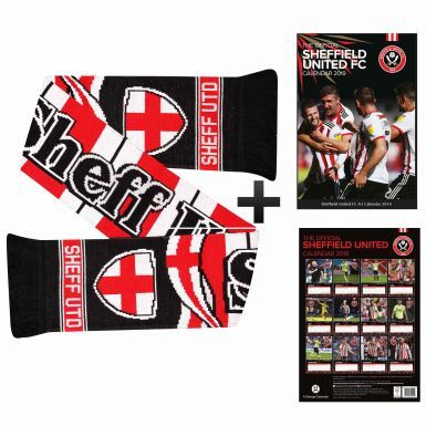 Sheffield United 2019 Calendar & Scarf Gift Set