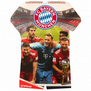 Official Bayern Munich (Bundesliga) 2019 Shirt Calender