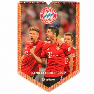 Official Bayern Munich (Bundesliga) 2019 Pennant Shaped Calender