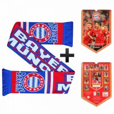 Official Bayern Munich (Bundesliga) 2019 Calender & Scarf Gift Set