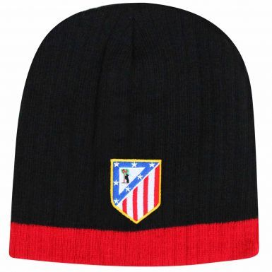 Official Atletico Madrid Crest Beanie Hat (100% Acrylic)