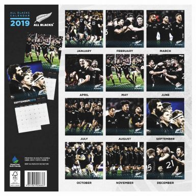 Official New Zealand All Blacks Rugby 2019 Calendar (16 Months & 305mmx 305mm)