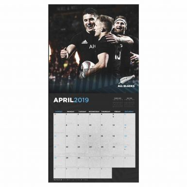 Official New Zealand All Blacks Rugby 2019 Calendar & Scarf Gift Set