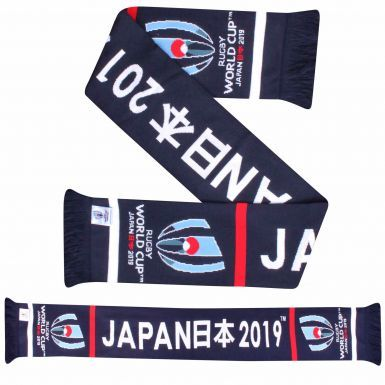 Official 2019 Japan Rugby World Cup Beanie Hat & Scarf Souvenir Gift Set