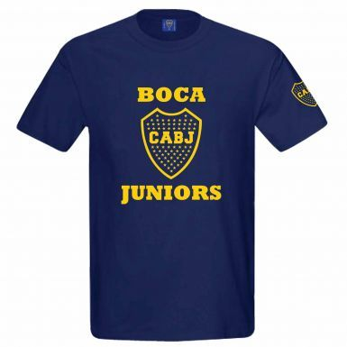Official Boca Juniors CABJ Crest T-Shirt